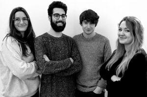 Sara Ceradini, Simone Allevi, Nicola Narbone e Marta Adamkowska dell'Università ISIA di Urbino
